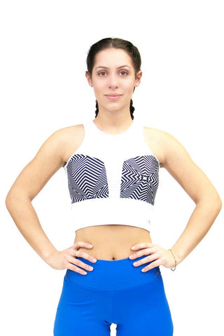 Bra Top Cirre STRIPED - Blue