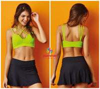 CajuBrasil USA Brazilian Fashion Fitness Bra Top Strappy 7519 WBFF