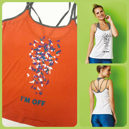Viscose Tank Top - I'm OFF - Orange - Plammie Activewear