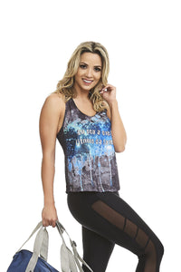 CajuBrasil USA Brazilian Luxury Fitness Motivational Tank Top FITNESS 8117 Outlet Sale