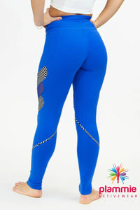 CajuBrasil USA Compression Slimming Leggings 8133 Royal Blue Brazilian