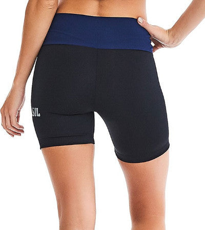 CajuBrasil USA Brazilian Fitness Running Shorts 9007 Navy UV Protection Black