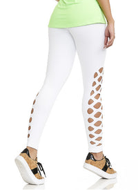 CajuBrasil USA Luxury Fashion Fitness High Compression Laser NZ Leggings MIND - White