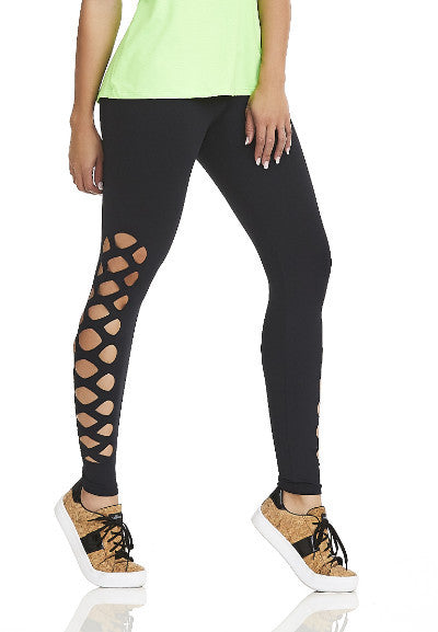 CajuBrasil USA Luxury Fashion Fitness High Compression Laser NZ Leggings MIND - Black