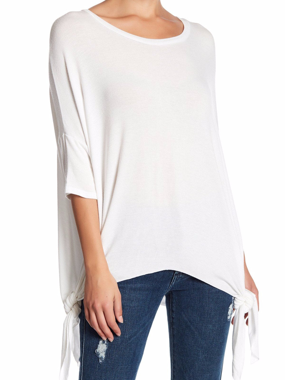 White Asymmetrical TOP - Plammie Activewear
