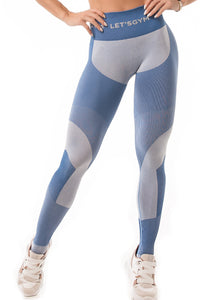 Leggings SEAMLESS - BLUE