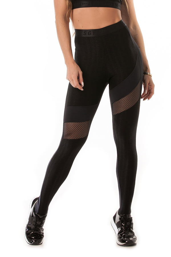 Leggings CRYSTAL ACTION - Black