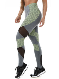 Leggings EMANA SNAKE - Lime
