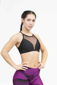 Bra Top FASHION - Black - Plammie Activewear