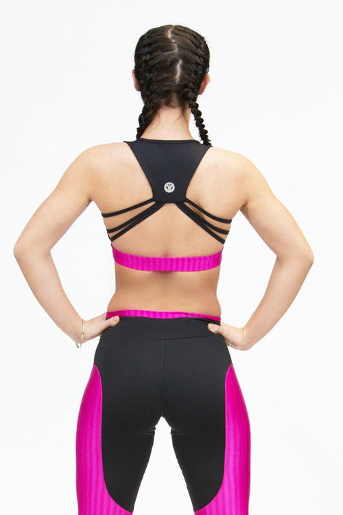 Bra Top - JAPAO - Black/Pink - Plammie Activewear