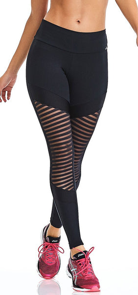 CajuBrasil USA Brazilian Fitness Leggings NZ Premium - Black 9044 Slimming Compression