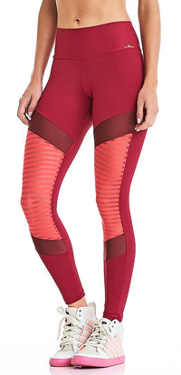 CajuBrasil USA Brazilian Fitness Leggings NZ Premium - Burgundy 9044 Slimming Compression