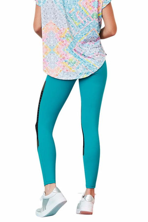 CajuBrasil USA Brazilian Fitness Leggings NZ Premium - Jade 9044 Slimming Compression