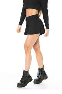 Ribbed Shorts - GABI - Black