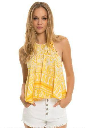 Elan USA Beach Flare Crop Top S1330 CoverUps Resort Wear