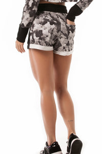 Grey Camo Super Cute Sweat Shorts
