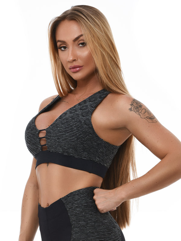 Bra Top SNAKE - Black