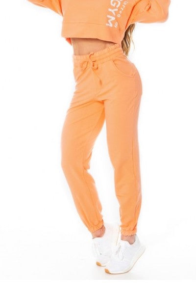 Jogger SPORT FLEECE TREND - Orange