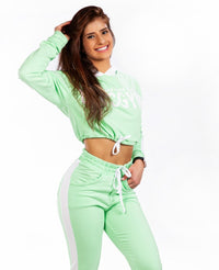 Cropped SPORT Fleece Stay Home - Mint