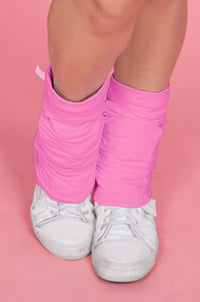 Pink Ruched Leg Warmers - CLAIRE
