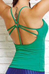CajuBrasil USA Luxury Brazilian Fitness Yoga Top FORMA - Emerald Green 8119 Outlet Sale