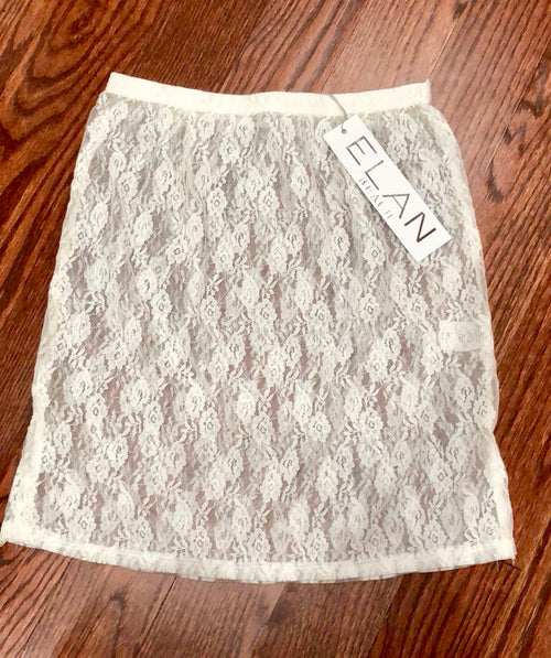 Elan Lace Mini Skirt - Cream