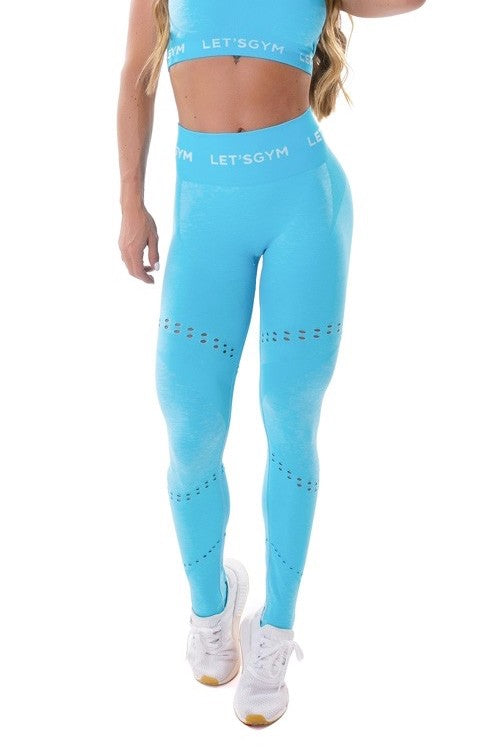Seamless Leggings PERFECTION - Blue