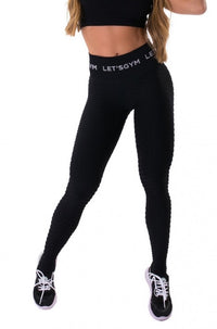 Leggings Seamless Honeycomb - BLACK