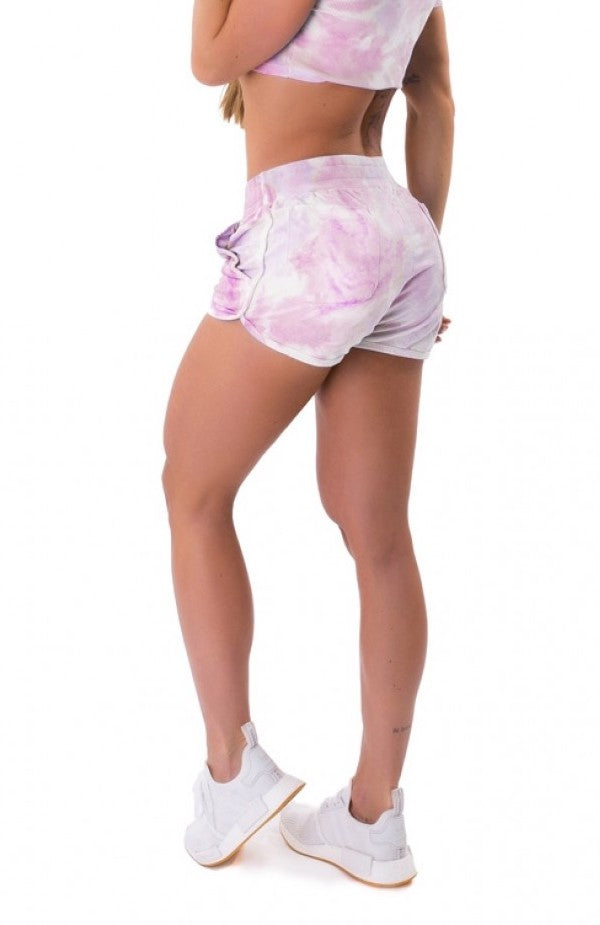 Stay Home Sweat Shorts - TieDye - Pink