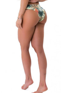 Tanga Bikini BOTTOM - TROPICAL GARDEN - Green