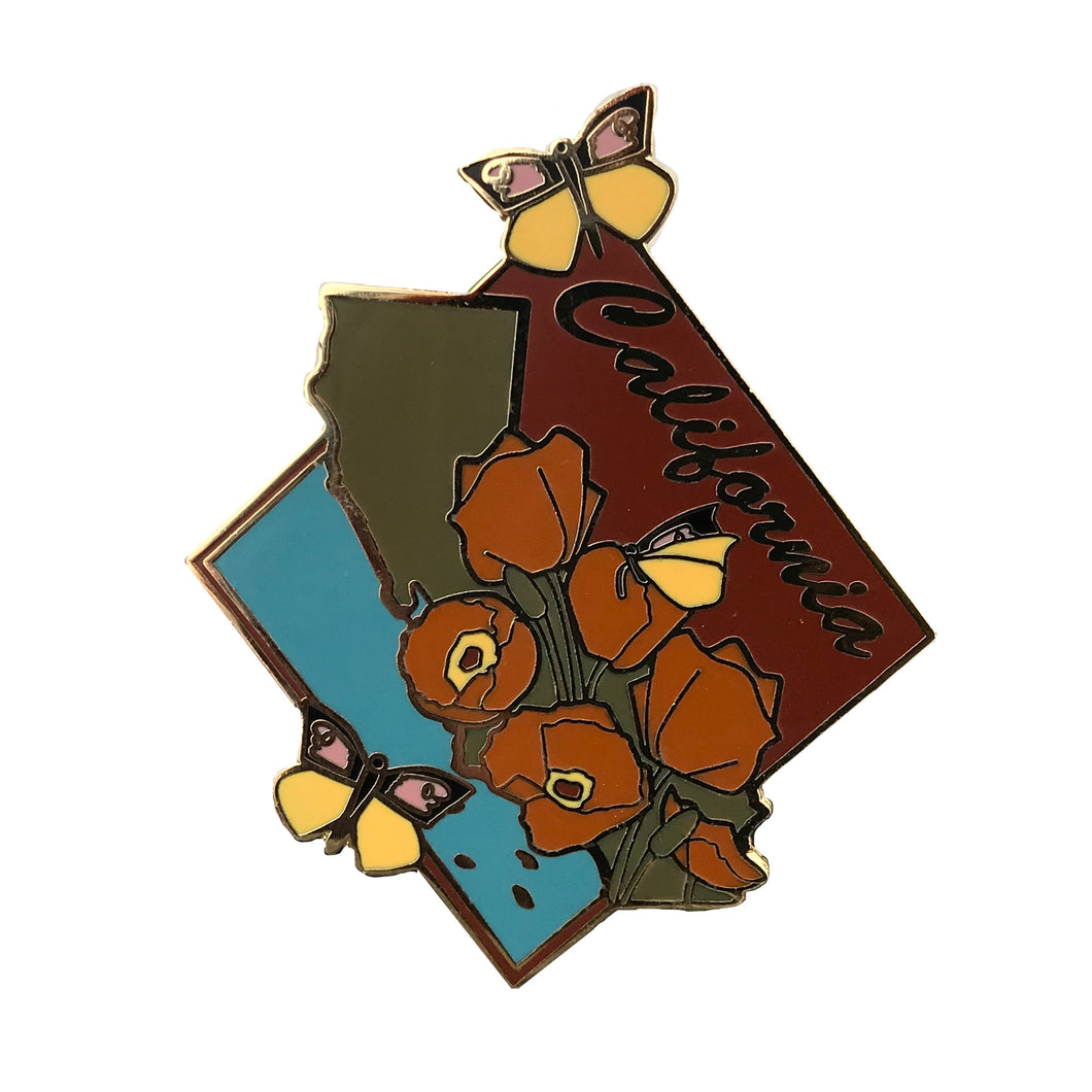 SECONDS- California State Enamel Pin