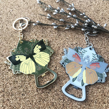 California Butterfly Bottle Opener Keychain
