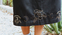"FINAL SALE- ""Wolf + I"" Midi Embroidered Skirt"