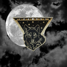 """Wolf + I"" Black and White Wolf Pin"