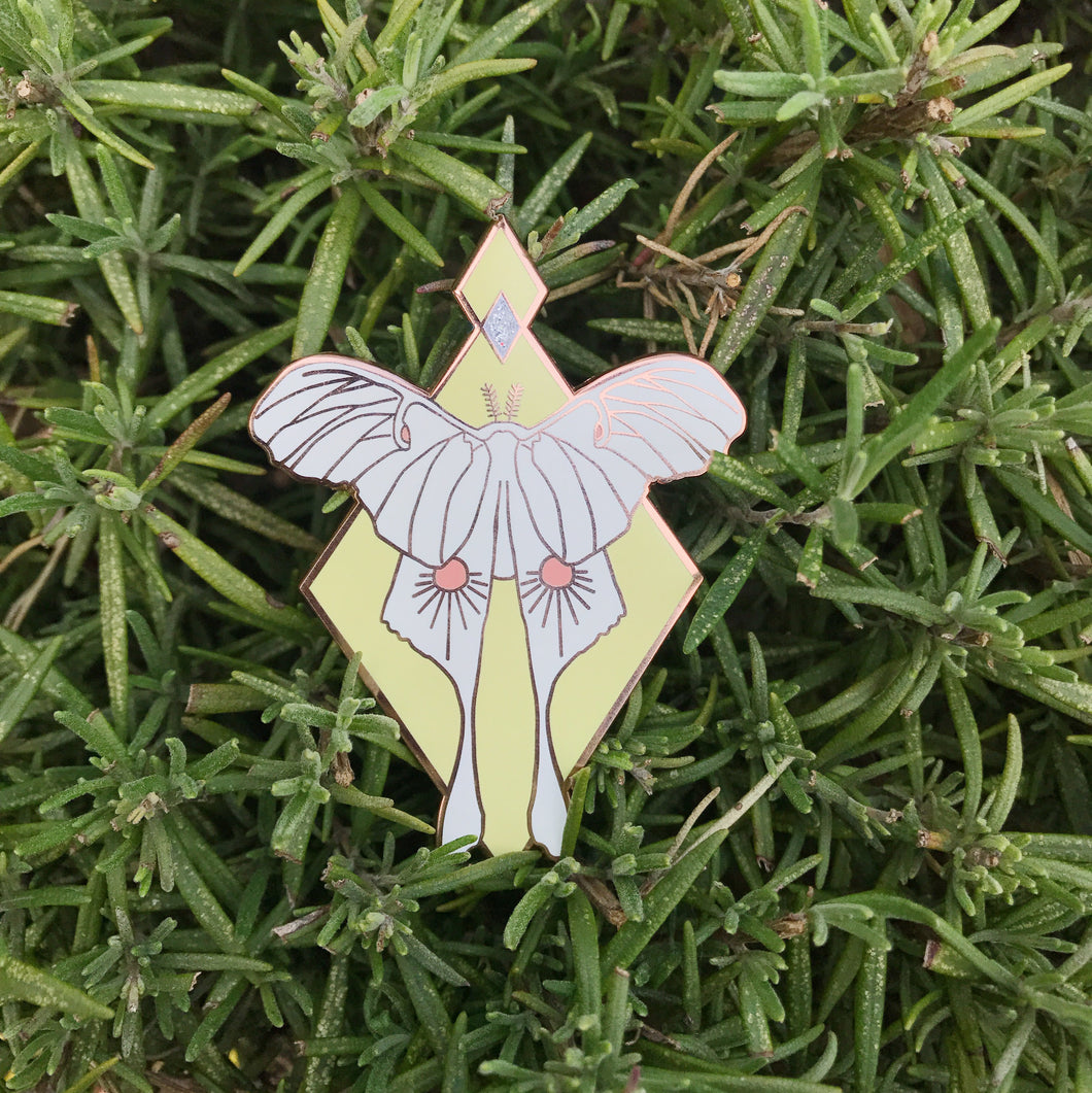 Seconds - Luna Moth Pin