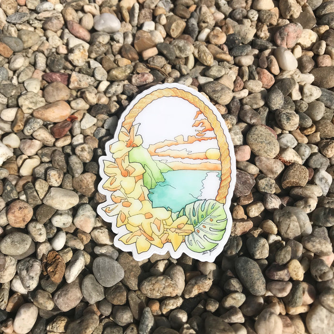 Hawaiian Bliss Sunset Sticker