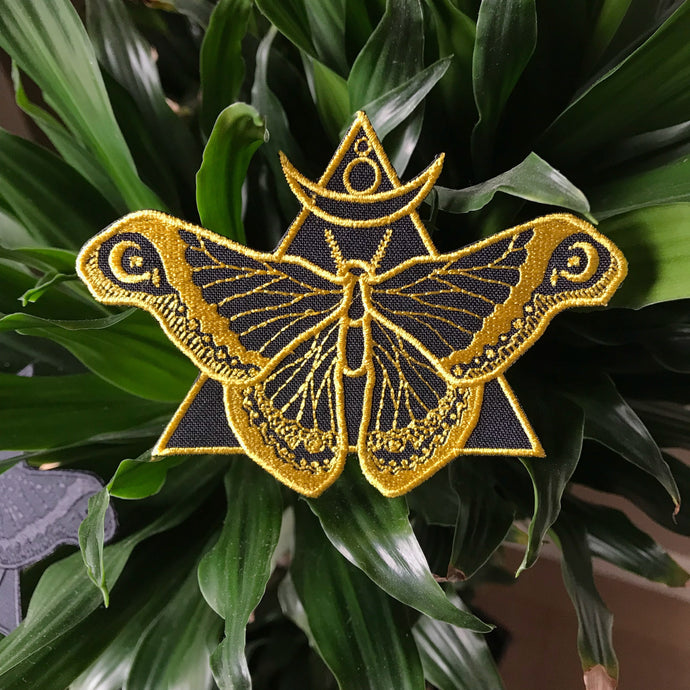 Black and Gold  Moth Patch