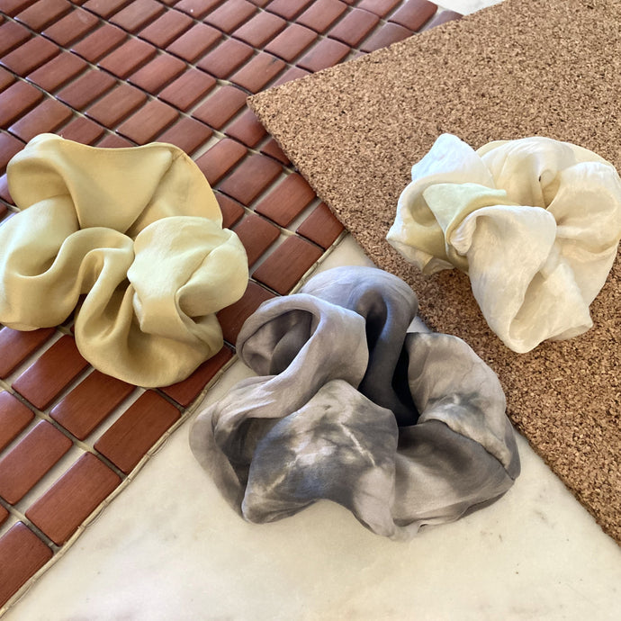 Silk Natural Dye Scrunchies