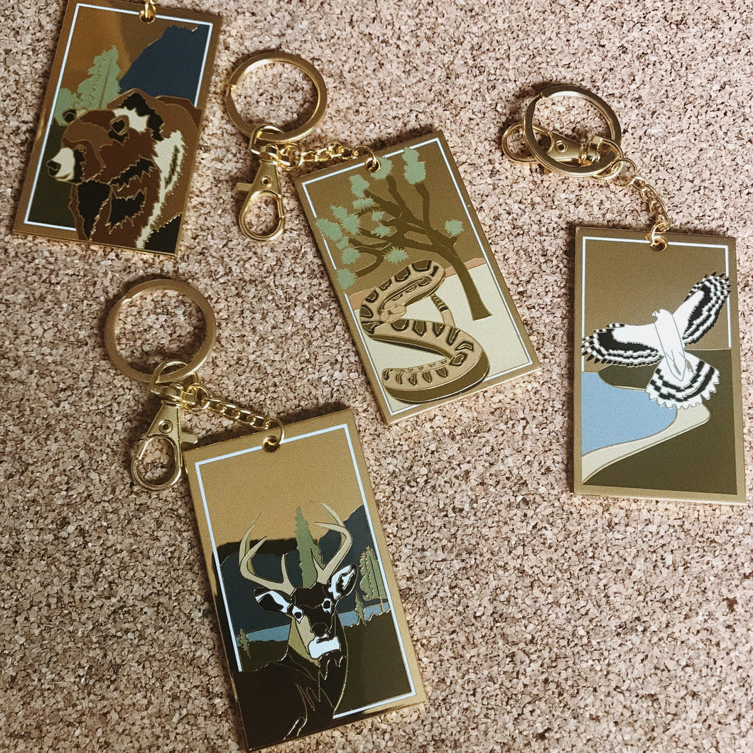 California Spirit Animal Keychains