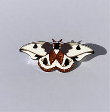 "SECONDS- Handle with Care ""Moth Pin"""