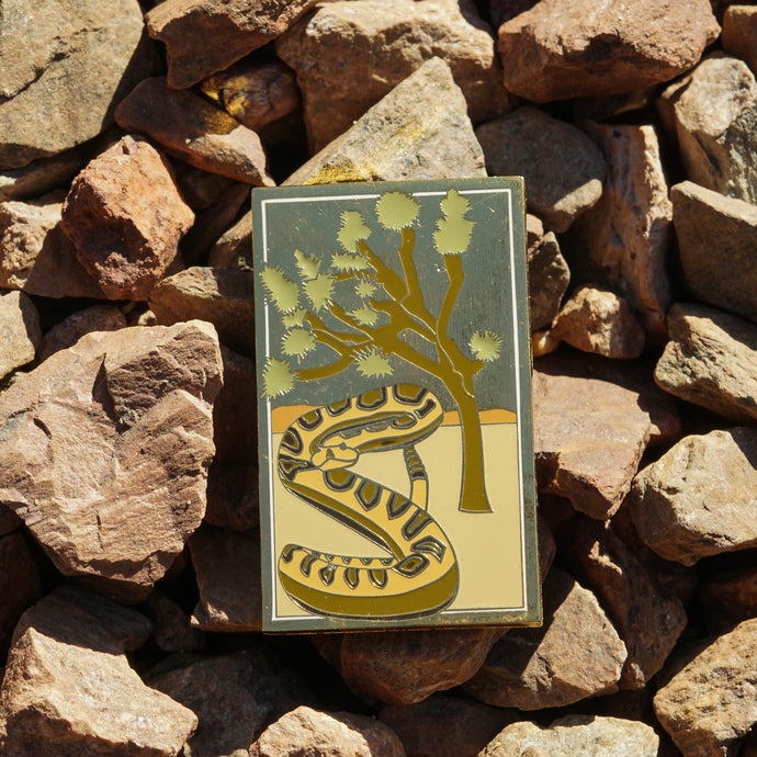 California Natie Snake Enamel Pin