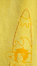 Hawaiian Bliss Yellow Printed/Embroidered Tank