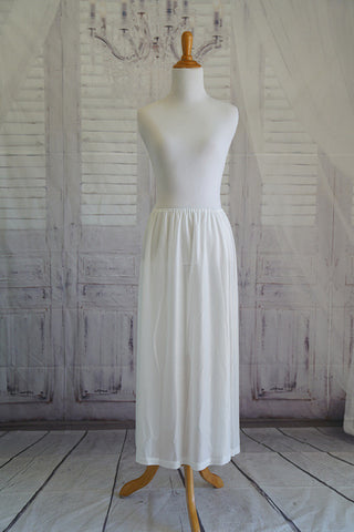 White Half Slip For lighter colored infinity dresses.