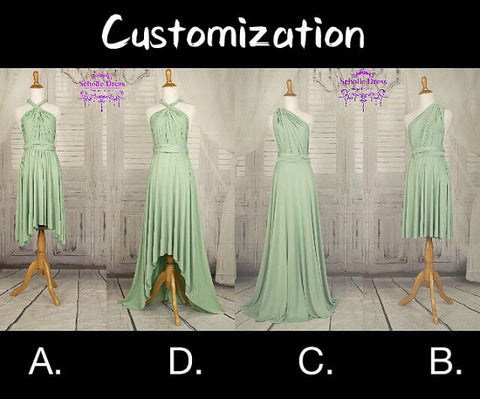 Customization infinity dress size