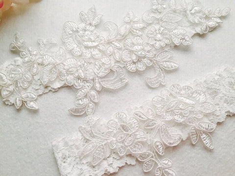 Wedding Garter , bridal garter, Tossing Garter,Keepsake Garter,Off white Lace Garter, A03#