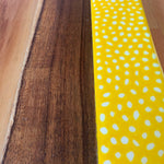 Abstract Yellow Dot Long Board