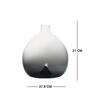 Medium Contemporary Style Casamotion Light Grey Centerpiece Glass Vase