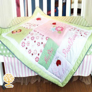 Garden Theme - 100% Cotton  Flower Baby Quilt / Babysheet