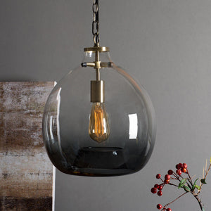 Large Casamotion Hand Blown Grey Pendant Lamp