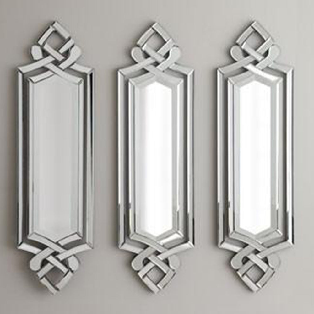 Decorative Wall Mirrors Fab Queen Wall Decor Mirrors Set Of 3